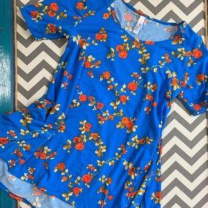 LuLaRoe XS perfect t. Blue and orange tunic